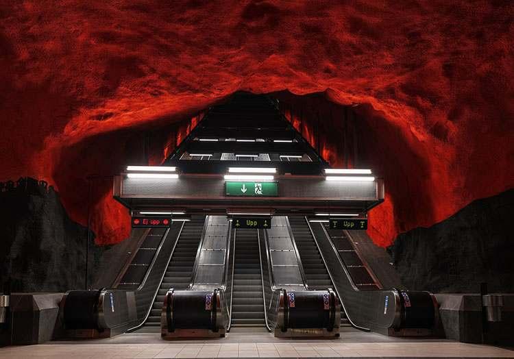 Szwecja Sztokholm metro stacja metra