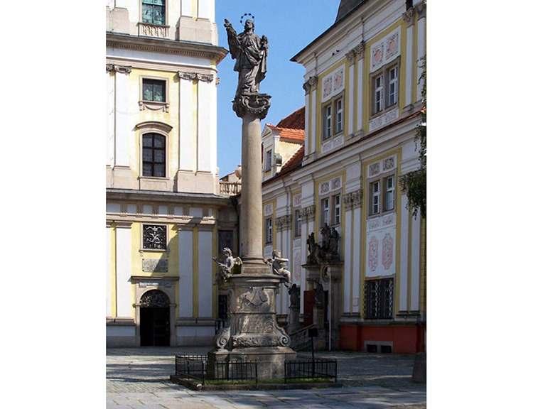 kolumna Nepomucena rynek Trzebnica ciekawostki zabytki