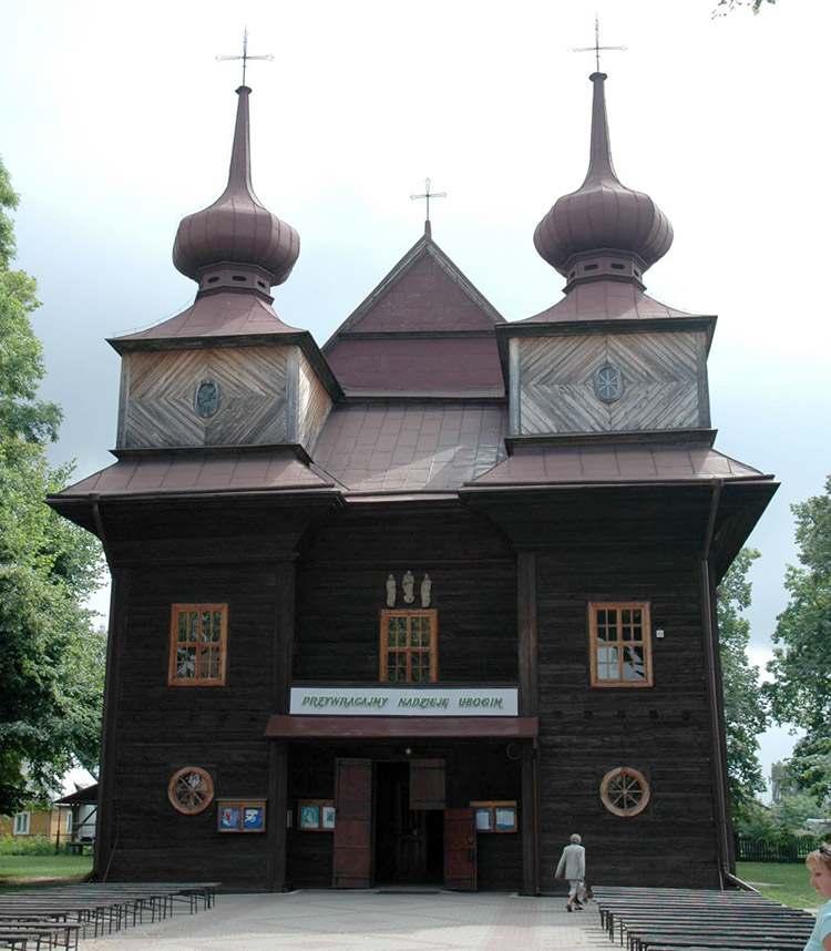 kościół drewniany Tomaszów Lubelski ciekawostki zabytki
