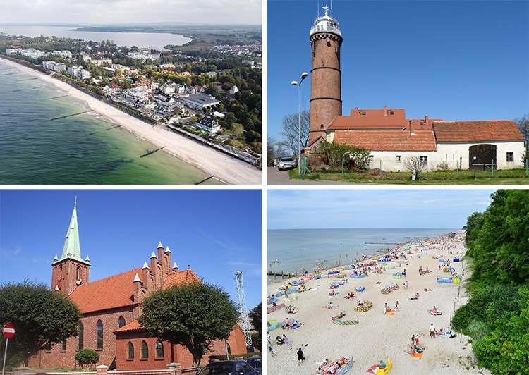 polskie wybrzeże miasta ciekawostki atrakcje miejscowości Morze Bałtyckie plaża