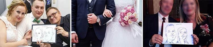 karykaturzysta na wesele event karykatury atrakcje weselne