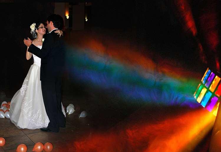 pierwszy taniec wesele ślub światła sala weselna parkiet efekty specjalne