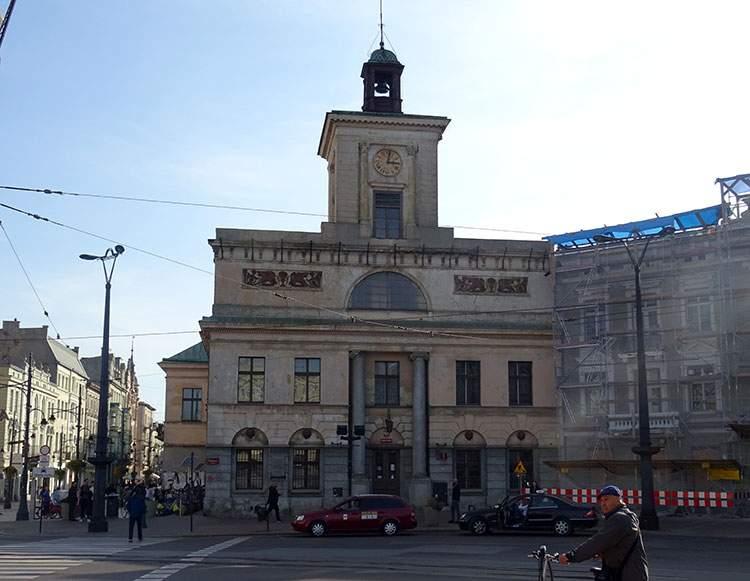 dawny ratusz Łodzi Archiwum Plac Wolności zabytki Łódź