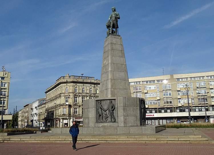 pomnik Tadeusza Kościuszki Plac Wolności 2 w Łodzi