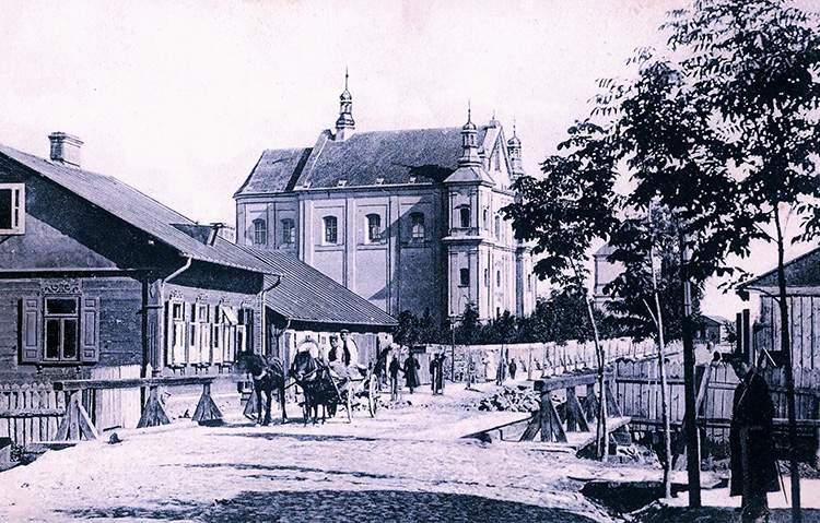 ulica Lubelska 1920 Łuków ciekawostki historia kościół Podwyższenia