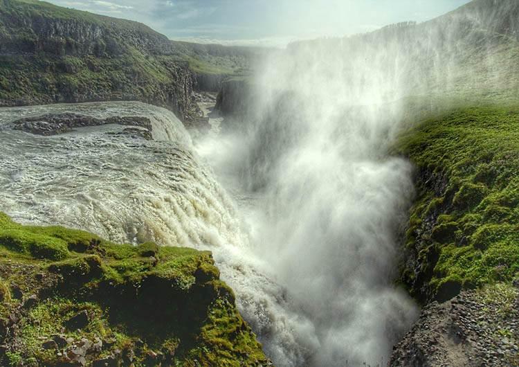 wodospad Gulfoss Islandia atrakcje ciekawostki