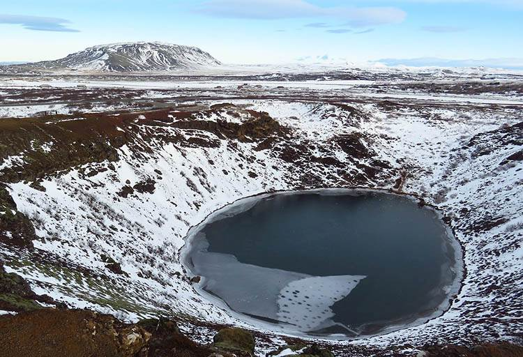 Kerid jezioro wulkan Islandia atrakcje ciekawostki