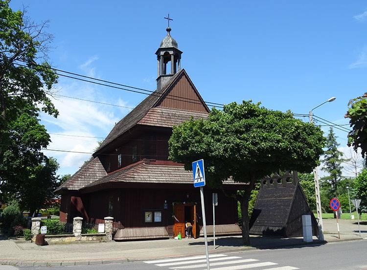 kościół drewniany Łask ciekawostki atrakcje zabytki