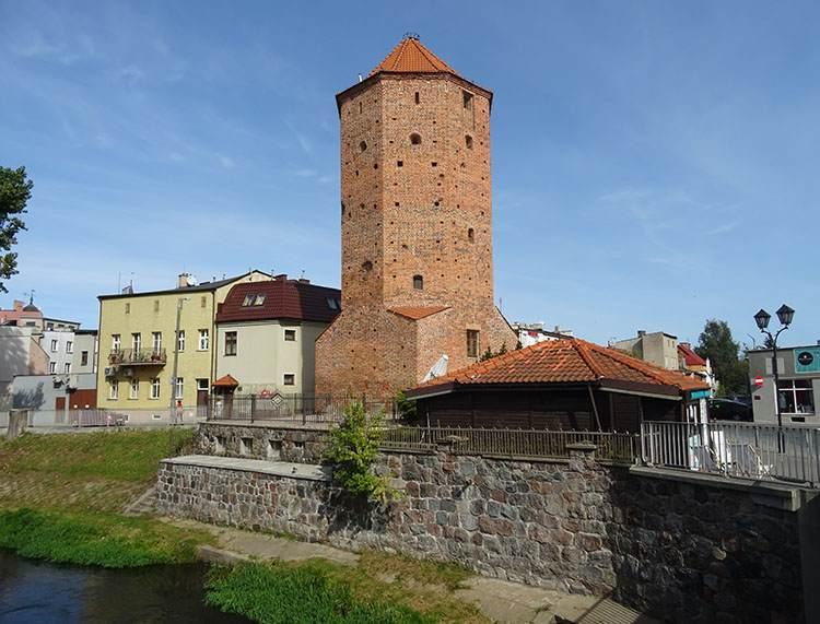 Brodnica wieża Mazurska Bociania zabytki