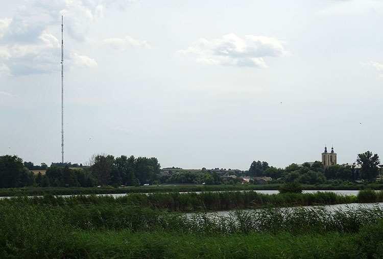 miasto Piaski ciekawostki maszt radiowo telewizyjny stawy
