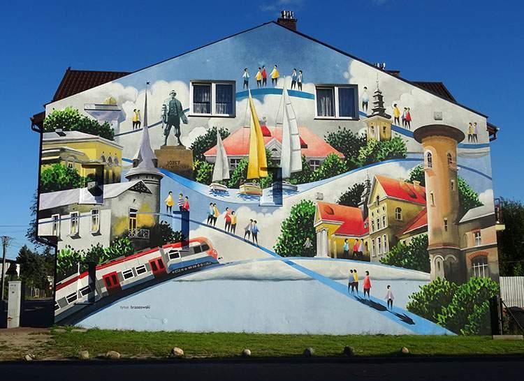 mural w Grodzisku Mazowieckim