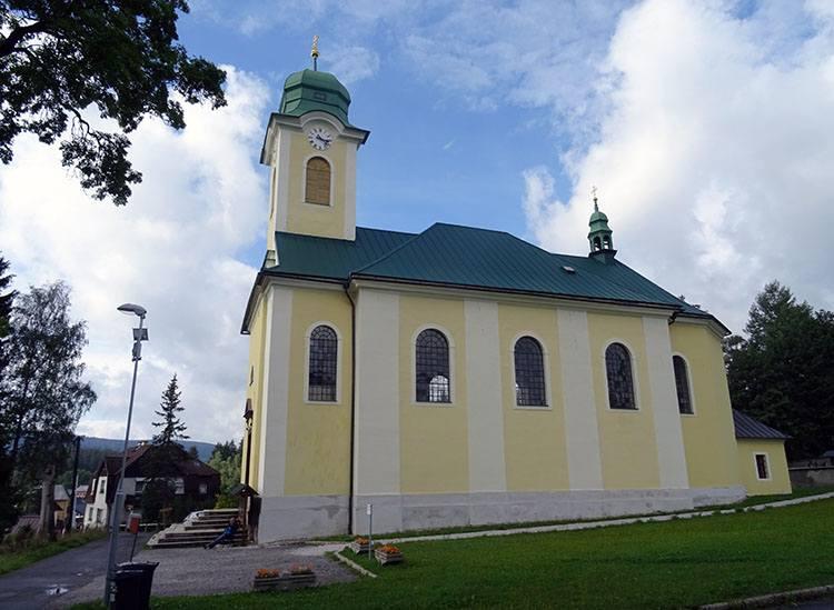 kościół św. Wacława Harrachov Czechy ciekawostki atrakcje