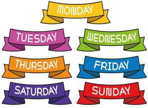 tydzień ciekawostki dni tygodnia cytaty przysłowia