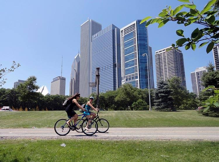 relaks rowery Chicago Illinois USA atrakcje ciekawostki