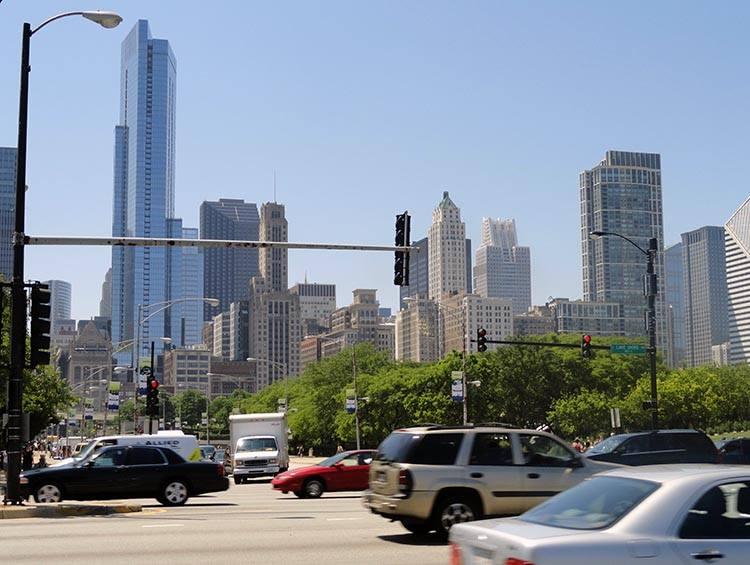 wieżowce Wietrzne Miasto Chicago Illinois USA atrakcje ciekawostki