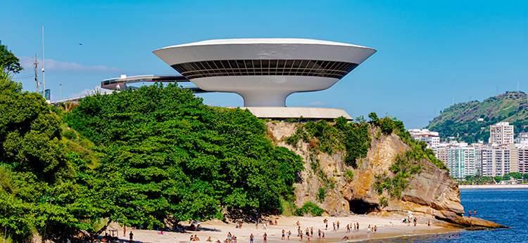 Muzeum Sztuki Współczesnej Niterói Rio de Janeiro Brazylia