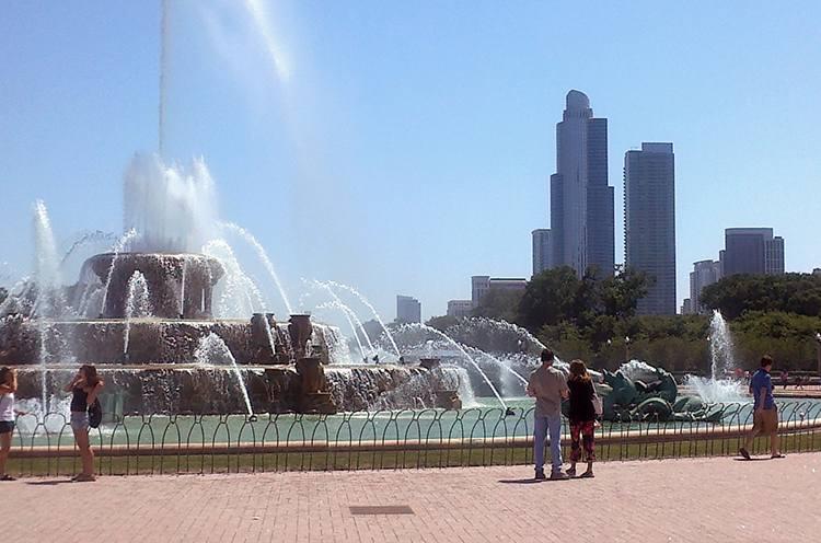 fontanna Buckinghama Chicago ciekawostki atrakcje