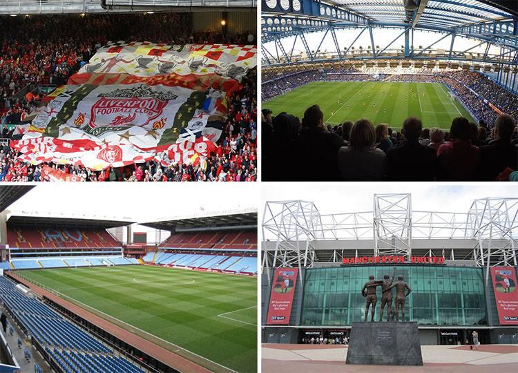 największe stadiony Anglia piłka nożna Premier League ciekawostki